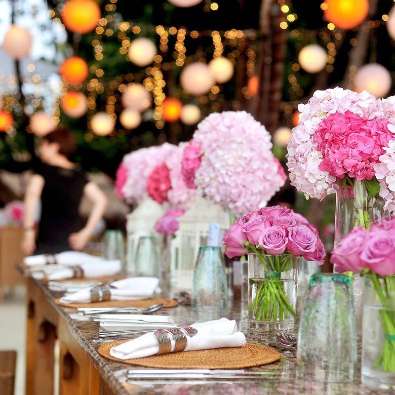 Just celebrate - Blumendeko für die Festtafel