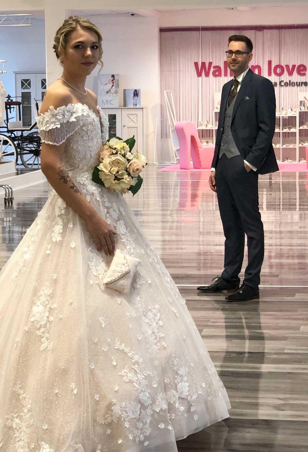 Brautstudio Offenborn - Eingekleidetes Brautpaar