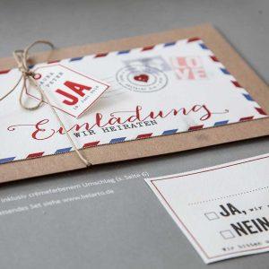 Druckhaus Menne - Einladungskarte im Post-Design