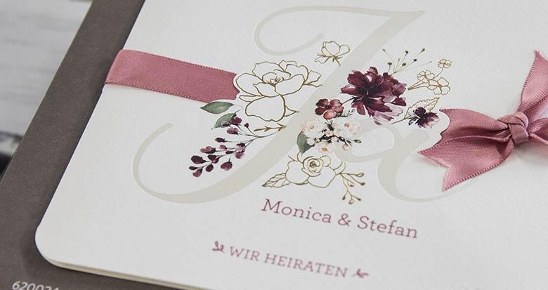 Druckhaus Menne - Einladungskarte Hochzeitsdruck