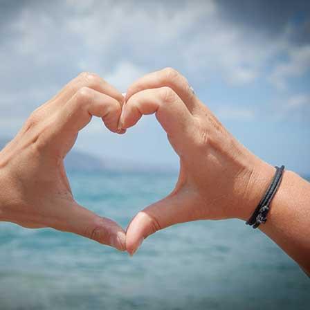 Just Celebrate   Herz aus Händen